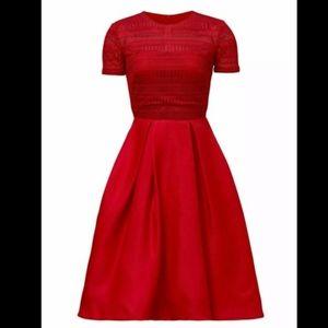 ML MONIQUE LHUILLIER Lolita Midi Dress
